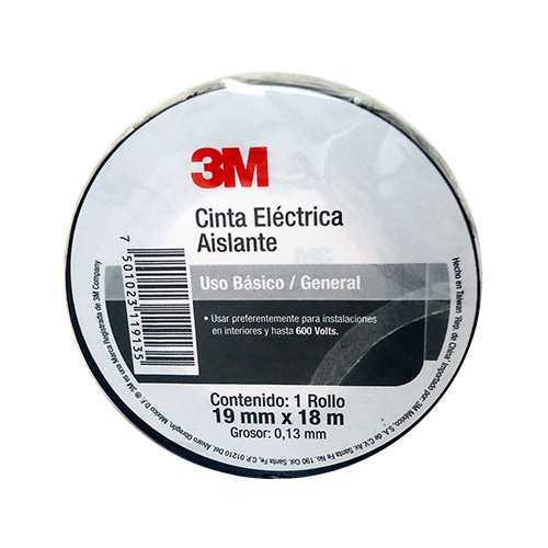 Cinta Electrica Ferretera 3M 19Mm X 18Mt